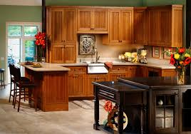 Mission Style Kitchen Island by Craftsman Style Kitchen Cabinets