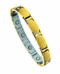 magnetic bracelet gold plated images Juno stainless steel magnetic link bracelet 7 quot 18 cm 24k gold gif