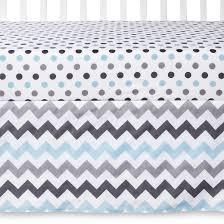 my baby sam chevron baby crib bedding set aqua gray 3 piece target