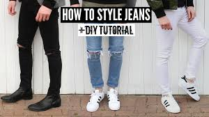 Ripped Knee Jeans Mens How To Style Jeans Distressed Denim Diy Tutorial Mens