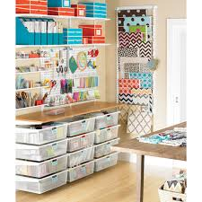 Art And Craft Room - white elfa utility boards the container store