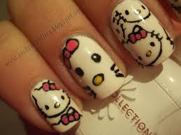 hello kitty nails 2012 part 4 love and quotes