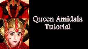 queen amidala star wars makeup tutorial youtube