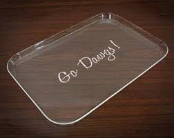 monogramed tray personalized acrylic tray tray with handles personalized