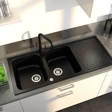 evier de cuisine en granite cuisine granit noir 1 avec vier encastrer a castorama et i