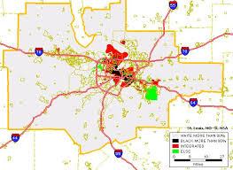 stl metro map black white housing patterns in st louis