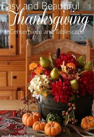 easy and beautiful thanksgiving tablescape and centerpiece hometalk