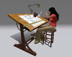 second life marketplace couples animated drafting table