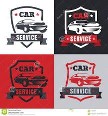 car service vintage style car repair service label vector logo design templ