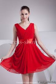 knee length red dress 2017 2018 ad board