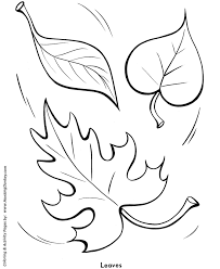 easy shapes coloring pages free printable fall leaves easy