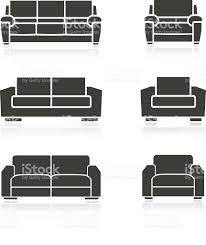 set of sofas and armchairs stock vector art 531985073 istock