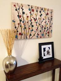 Diy Simple Canvas Painting Of Branches And Blooms Things I U0027ve