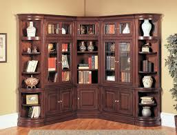 Espresso Corner Bookcase Espresso Bookshelf With Doors Bookshelves Pinterest