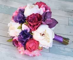 peonies bouquet purple and fuchsia bouquet made with touch garden