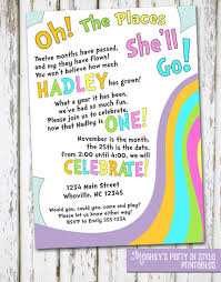 oh the places you ll go graduation gift oh the places you ll go birthday invite