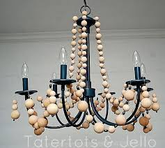 Tutorial On Diy Beaded Chandelier How To Make A Wood Bead Chandelier How To Make A Beaded Chandelier