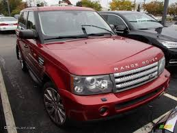 range rover pink and black 2007 rimini red metallic land rover range rover sport supercharged