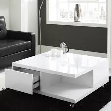 high gloss white coffee table with drawers luxurius modern white