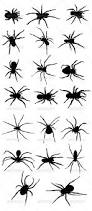 spider silhouttes by marjan2 graphicriver