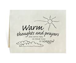 sympathy cards sympathy card warm thoughts and prayers are with you in your