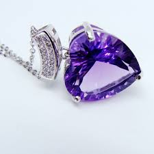 natural amethyst necklace images 10carat natural amethyst pendant necklace for women valentine jpg
