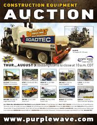 sold august 3 construction equipment auction purplewave inc