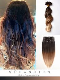 ombre extensions three colors ombre clip in hair extensions m1b27s27h30
