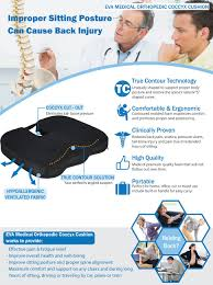 amazon com eva medical true contour coccyx cushion health
