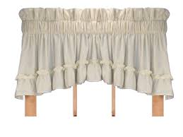 Solid Color Valances For Windows Stephanie Solid Color Country Ruffled Crescent Valance Window