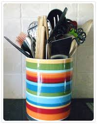 kitchen utensil canister julie utensil crock organized at last