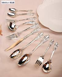 kitchen forks and knives aliexpress buy silver tableware sets set of 10 pieces