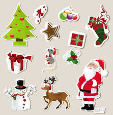 christmas stickers christmas stickers element 01 vector free vector 4vector