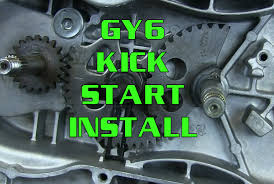 how to gy6 125 150 kick start gear installation scooter kart
