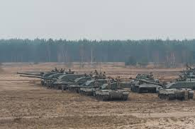 file challenger 2 tanks in poland for exercise black eagle mod