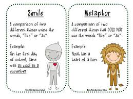 simile metaphor and onomatopoeia lessons tes teach