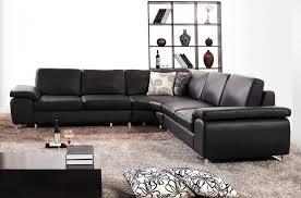 canapé d angle 6 places canapé d angle en cuir luxe italien 6 places biarritz noir