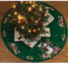 snowman tree bucilla candy snowman tree skirt felt applique kit 86307