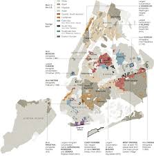 Map Of North East America by New York Times Map Of Nyc U0027s Shifting Ethnicity By Neighborhood