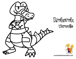 krokorok pokemon black and white coloringpages free bebo pandco