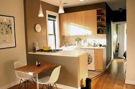 interior small studio kitchen design ideas with wooden cabinetry