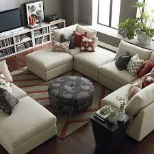 Modular Sectional Sofa Microfiber Sofa Light Grey Sectional Big Sectional Couch Corner Chaise Sofa