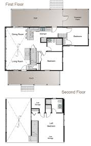 frost valley post and beam cottage floor plan home plans