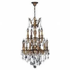 Crystal And Bronze Chandelier Collection 15 Light Antique Bronze Finish And Clear Crystal