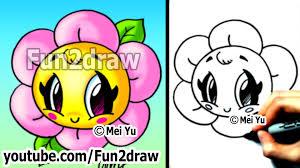kawaii tutorial how to draw a flower cute u0026 easy popular
