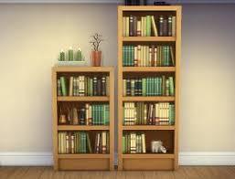 Single Shelf Bookcase Mod The Sims Single Tile U201cintellect U201d Bookcases