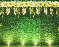 wedding backdrop green 2018 green leaves wall backdrop for wedding white yellow flowers