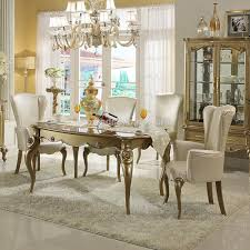 Marble Dining Room Table Modern Classic Dining Room Spindle Back Dining Chairs White