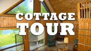canadian log cabin cottage tour youtube