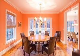 orange dining room with traditional dining furniture set jill